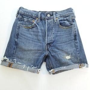 Levi's Altered High Waist Shorts